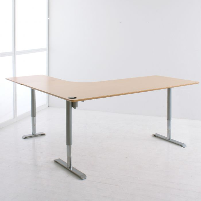 Conset - 501-49 8X176-196A Three Leg Height Adjustable Shaped Table Desk